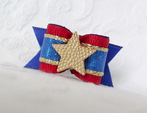 5/8 Independence Sparkle Bow