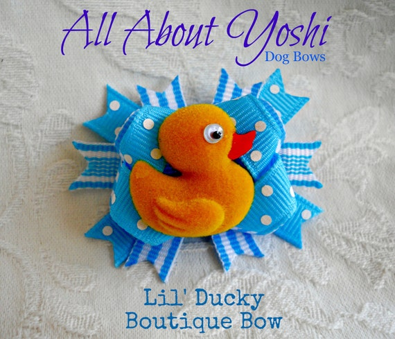 Boutique Dog Bow- Lil' Ducky Boutique Dog Bow