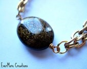 Boho Jewelry, Autumn Jewelry, Bohemian Chunky Bracelet. Gold Moonstone