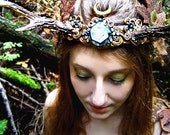 Antler Crown Headdress Autumn Faerie Princess Fairy Costume Offbeat Wedding Pagan Bridal Roe Deer Antlers HARVEST MOON by Spinning Castle