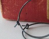 Earrings - Silver Jewelry - Hoop Earrings - Sterling Silver Hoops - Simply Hoops - Medium size - Oxidized Sterling Hoop Earrings