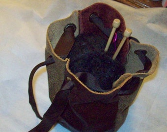Upcycled leather carryall bag