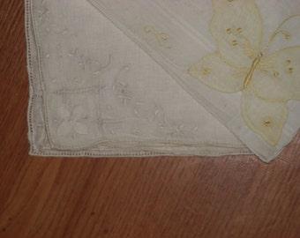 Hand Embroidered Handkerchiefs