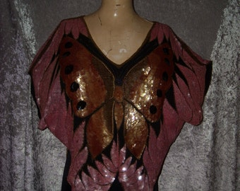 SWEELO BUTTERFLY Sequin Blouse