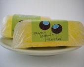 Meyer lemon and tea tree hand cut luxury bath bar
