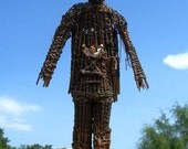 Burning Man Miniature Wicker Man with Lights