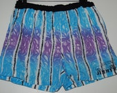 Vintage 1984 mens Jimmy Z pocketed psychedelic surf skate punk shorts swim trunks M L 34 inch waist