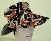 RESERVED FOR nmnm5  Vintage 1960's mod psychedelic slouchy fantastic floppy bohemian op art tapestry carpet wide brim tall hippie hat