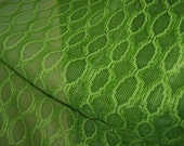"""RESERVED for pueshel Vintage 70's SET of 4 sheer bright green open weave geometric pocket top curtain panels 80""""x30"""""""