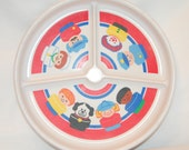 Vintage 1990 Fisher Price Little People plate saucer