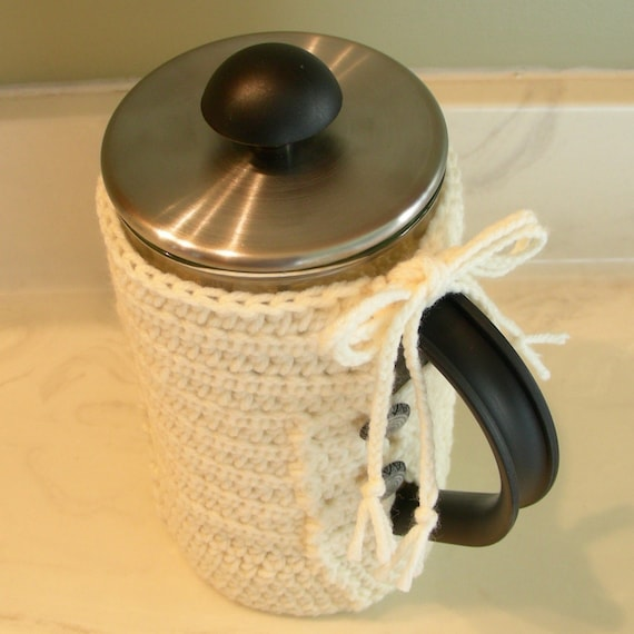 cream cozy for ikea kaffe french press by parasoldesign on etsy. Black Bedroom Furniture Sets. Home Design Ideas