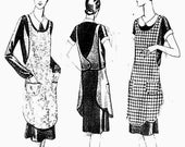 1920's Halter Apron - Vintage Sewing Pattern REPRODUCTION - Bust 36