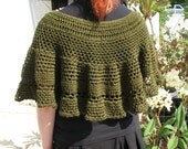 Year End Sale Poncho or Capelet in Elven Forest