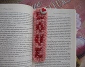35% Off Sale Bookmark in Felted Wool with LOVE and Heart Button