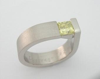 Lemon yellow diamond ring