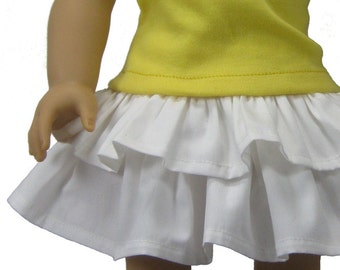 Contemporary Tee and Skirt PDF sewing pattern for 18 inch American Girl doll Spring Fling