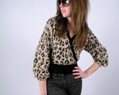 RESERVED FOR KANDISNAKS Leopard Print Marie St. John Crop Sweater