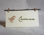 bird and branch place cards