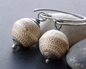 Istanbul Vague - vintage lucite and antiqued silver turkish style earrings