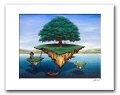 "Lake Escape - 11x14"" Matted Print Reproduction"