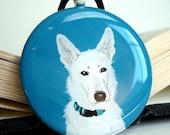 Custom Portrait Of Your Pet Handpainted Art Pendant Necklace