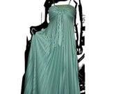 Aqua Green 70s Dress