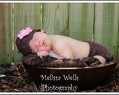 TWO CROCHET PATTERNS Flapper Beanie (0-3month and 3-6month) and Diaper Cover(newborn and 3-12months)