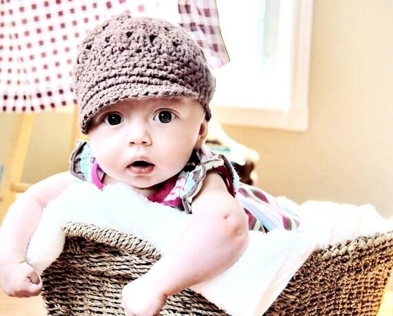 CROCHET PATTERN  Baby Newsboy or Newsgirl (Newborn-Preteen)