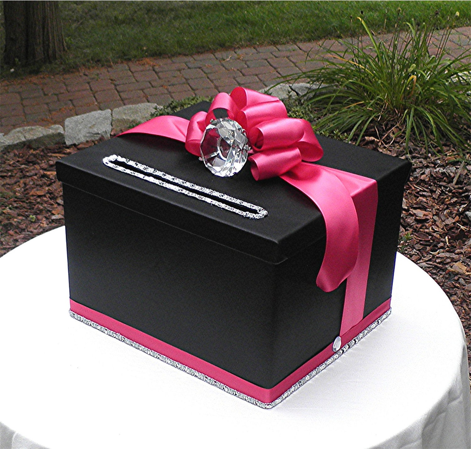 Black Wedding Gift Card Box : EtsyYour place to buy and sell all things handmade, vintage, and ...