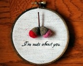 I'm Nuts About You Embroidery