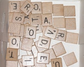 25 Scrabble Tiles for Crafts and Scrapping destash