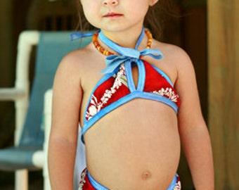 "Teeny Weeny ""Itsy Bitsy"" Bikini swim diaper set"