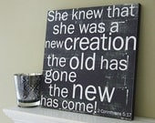 She Knew. . . New Creation - 12x12 CAFE MOUNT