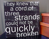 They Knew . . .  Cord of Three Strands - 12x12 CAFE MOUNT