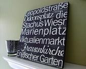 Munich - in Black 12x12 CAFE MOUNT