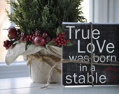 Christmas Cards Set of 5 Watercolor Scripture True Love was Born in a Stable