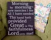 Great in Thy Faithfulness - 11x14 CAFE MOUNT