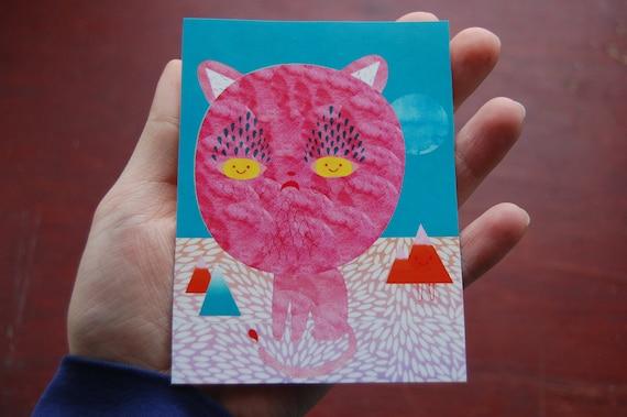 Sad Cat Happy Eyes VERY BIG Sticker