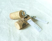 50 wine cork keychains