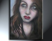 Original Artwork Portrait Of Girl 14x18