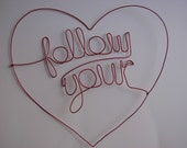Sale-Follow your heart- basic in red