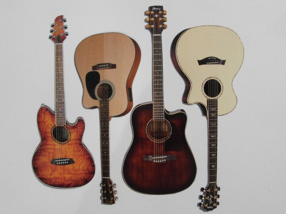 Unplugged- Acoustic Guitar Magnet Set