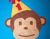 MISCHIEVOUS MONKEY - 1st 2nd or 3rd Birthday Shirt