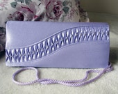 Purple Purse, Lavender Evening Bag, Vintage Clutch, Rhinestones, Retro Style, Classic Style