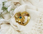 Vintage May Birthstone Brooch