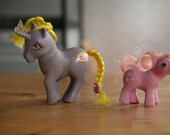 My little pony... vintage ponies...ice cream and boysenberry pie