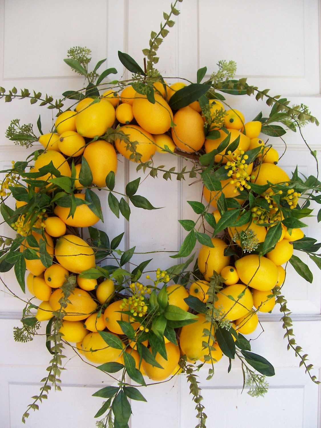 Lemon Wreath by DeLaFleur on Etsy