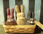 Wool Bunny Trio