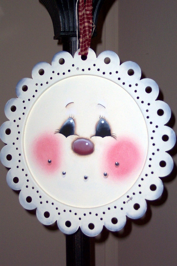 Special order Handpainted Snowman Plate