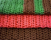 Berry  Wood - 3 Luxury Bamboo and Cotton Washcloths